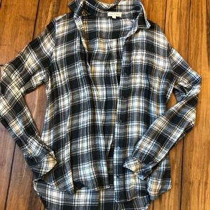 Gray and white Flannel